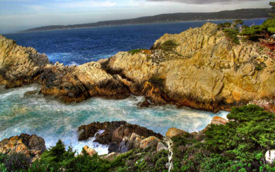 скалы, море Фон № 9110 разрешение 1920x1200