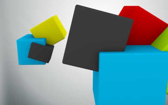 кубики, абстракция
