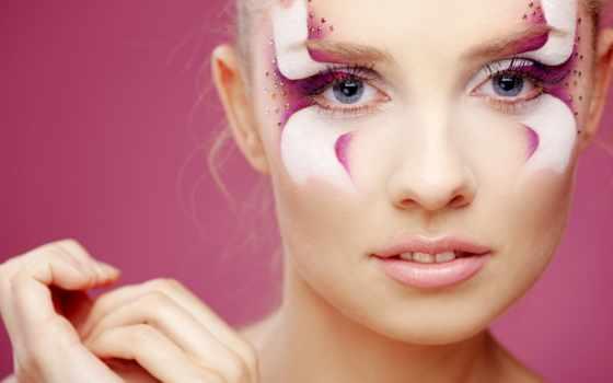 макияж, яркий, нечто