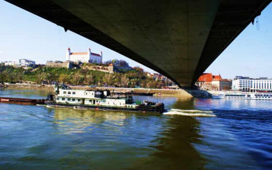 bratislava, castle, stock