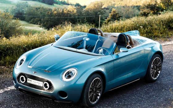 мини, cabrio, concept, roadster, авто, superleggera, ди, cooper, vision, posti,