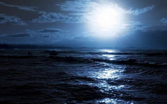 природа, море, ночь