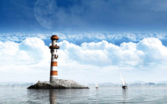 lighthouse, море, яхты, world, dreamy,