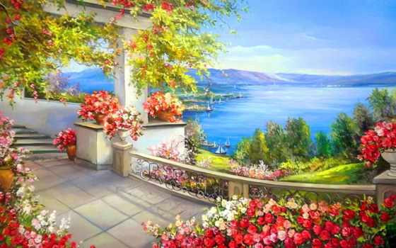 landscape, картины, online, пейзажи -, цветы, вышивка, puzzle, бисером, море, купить, bulgaru,