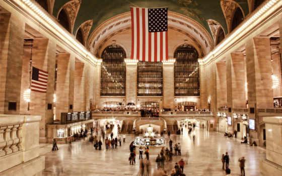 terminal, нью, центральный, grand, флаги, scania, discover, york, new, свободы,