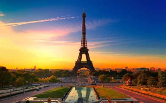 париж, french, эйфелева, turret, франция, город, высоком, качестве, базе,
