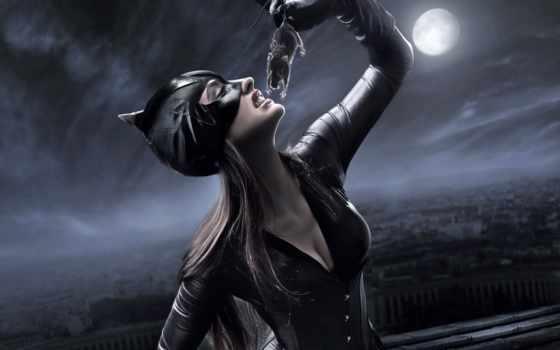 кот, женщина, ночь, catwoman, маска, красивые, крыса, масть, artleo, фоны, grandwallpapers,