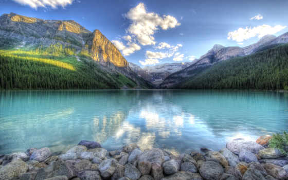 горы, найти, озеро
