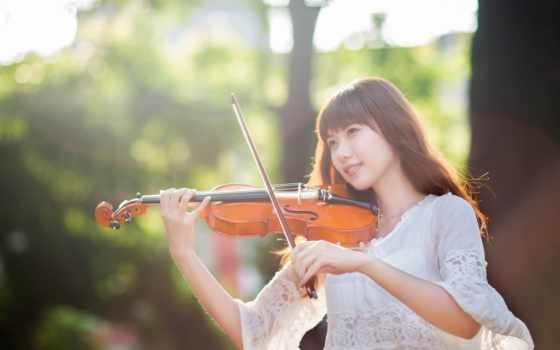 girls, девушка, скрипка,