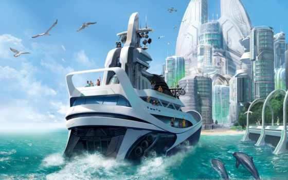 игры, anno, яхта, дельфины, город, other, сочи,