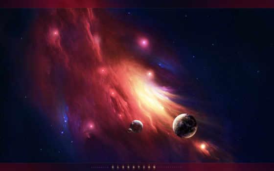 nebula, космос, planet