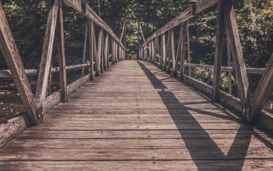 , мост, река, доски,
