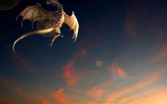 дракон, фэнтези, полет