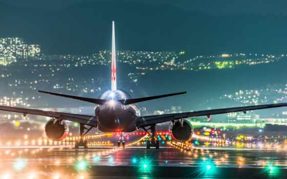 самолёт, airport, japanese, картинок, коллекция, самолеты, огни, осаки, desktopwallpape, аэропорту,