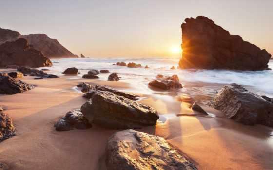 praia, adraga, португалия, sintra,