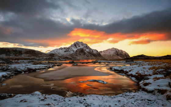 lofoten, islands, норвегия, snowy, desktop, mac, природа,