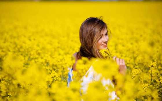 девушка, flowers, girls, поле, цветы, день, happy, propose,