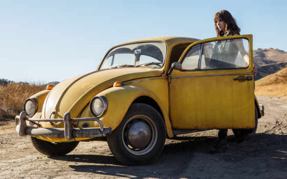 bumblebee, hailee, steinfeld, впервые, transformers, сниматься, cinemacon, movie, off,