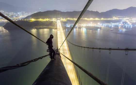 ciel, les, terre, vue, build, город, команда, hong, мост, миро