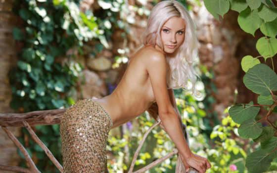 обои, эротика, adelia, блондинка, обнаженная, девушка, модель, presenting, элитная, разделась, природа,