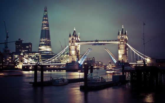 london, мост, англия, ук, тауэрский, thames,