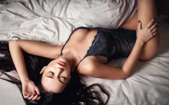 фото, lingerie, женщина, sexy, дэнис, черное бель, брюнетка,