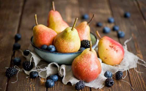 груша, натюрморт, ягода, blackberry, черника, плод, посуда, нож