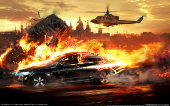 games, эпизод, best, cars, игра, voiture, pursuers, feu, картинка, fire, helicopter, cities, explosions,