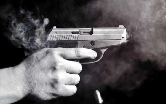 pistola, hombre, que