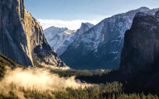 yosemite, park, national, mountains, amazing, природа,