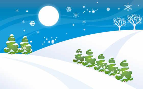 рисованный, снег, masterotvetov, drawing, озеро, trees,
