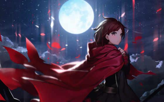 красивые, коллекция, лучшая, загружено, уже, anime, devushki, луна, милитари, небо,