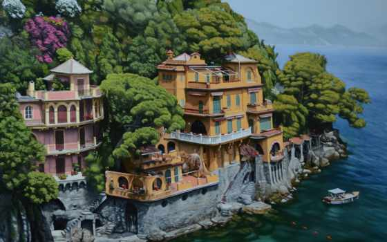 portofino, italian, об, pinterest, italy, villa, villas, images, more, гавань,