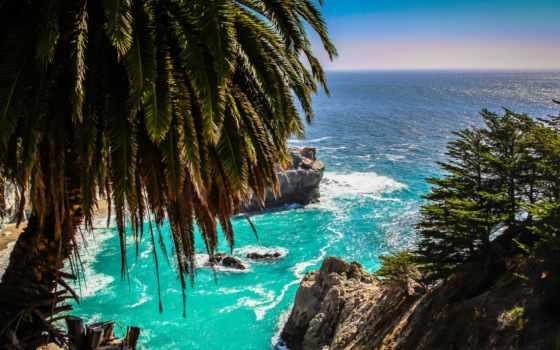 море, sur, биг, california, побережье, ocean, природа, пляж, закат,