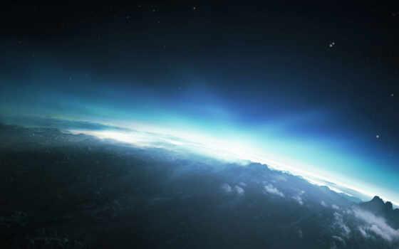 планета, небо, горы, восход, солнце, свет, звезды, облака, космос, вселенная, trance, галактика, звезда, landscape,