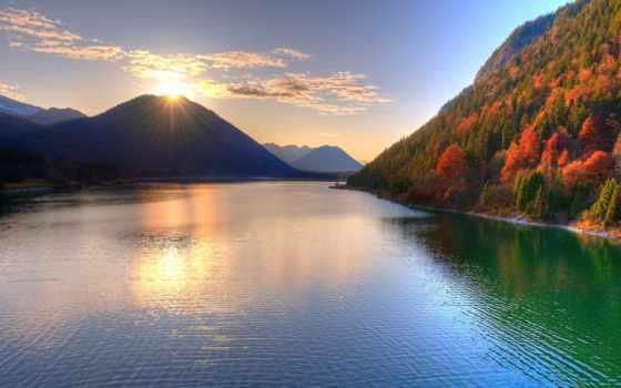 горы, солнце Фон № 31722 разрешение 1920x1080