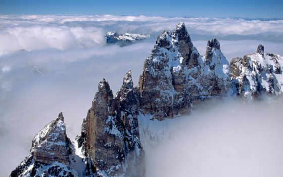 горы, анды, туман