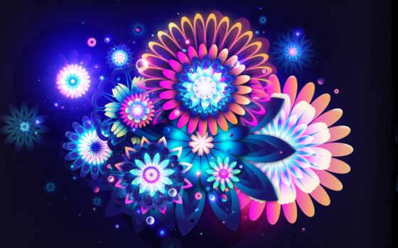 абстрактные, abstract, цветы
