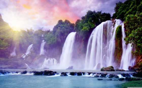 водопад, природа, водопады, falls, фотообои, изображение, trees, миллионов,