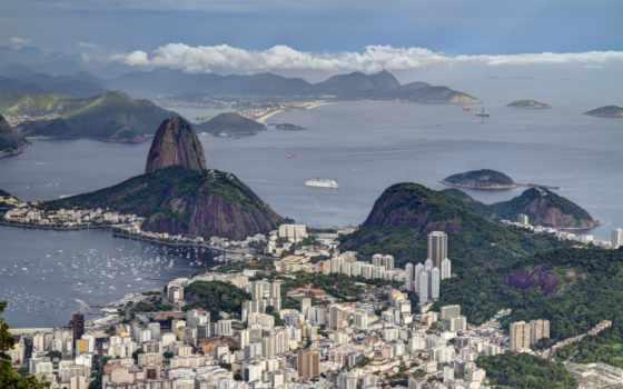 botafogo, рио, пляж, janeiro, rio, brazil, stock, город, bay,