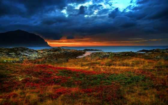 скалы, море