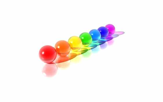 spheres, colorful