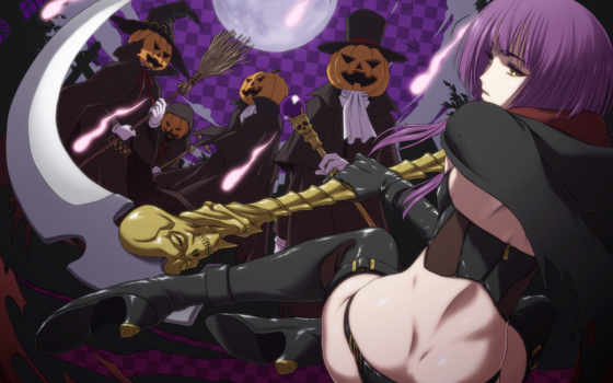 halloween, anime, girl