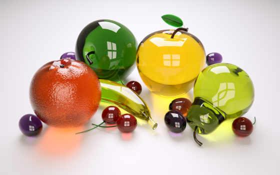фрукты, яблоки, ягоды
