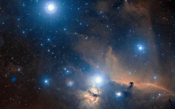 orion, созвездие, nebula, космос, конская, пламя, голова, звезды,