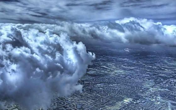 oblaka, небо, взгляд