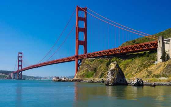 золотистый, gate, мост, san, francisco, креативная, подборка, широкоформатные,