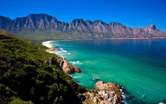 природа, горы, море, побережье, african, пляж, заставки, берег, priroda, гора,