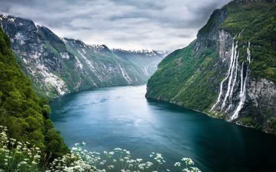 fjord, фьорды, norwegian, норвегии, geiranger, горы, фьордов, июнь,