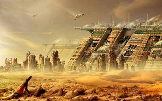city, futuristic, cityscapes, desert, ovh, buildings, artwork, мир, фантастический, ns, town, src, tướng,